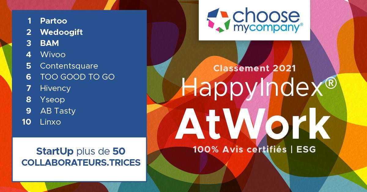 Classement Hivency HappyIndex®AtWork_ChooseMyCompany